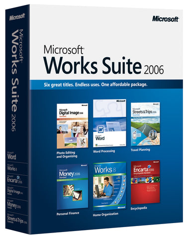Microsoft Works Suite 2006 Retail Box - MyChoiceSoftware.com