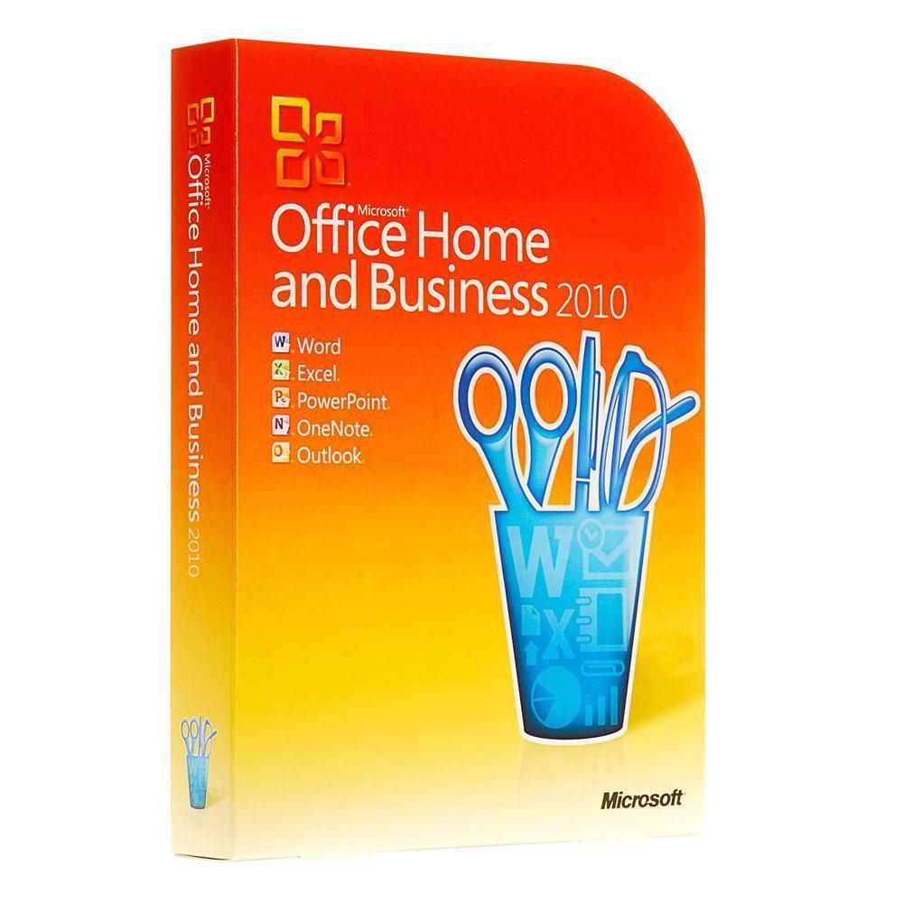 microsoft office 2010 home and business license with