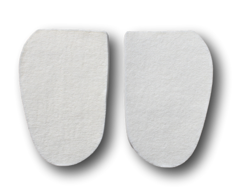 "Special! 1/4"" Thick Adhesive White Orthopedic Felt Arch Pad 3 3/8"" x 5 1/2"" (85319)"