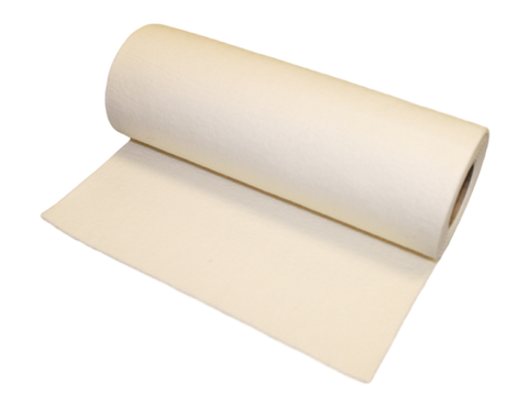"1/8"" Thick White Orthopedic Felt Rolls- 12"" wide x 2.5 Yards Long (900638)"