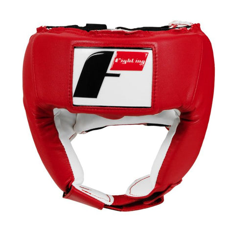 Fighting Sports Competition Open Face Headgear Head Gear Red