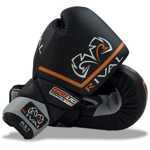 Rival Boxing RS1 Pro Sparring Lace-Up Gloves Black