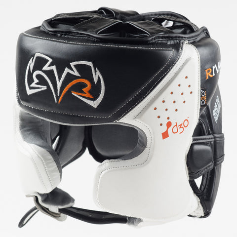 Rival Boxing RHG10 Intelli-Shock Headgear Head Guard Black/White