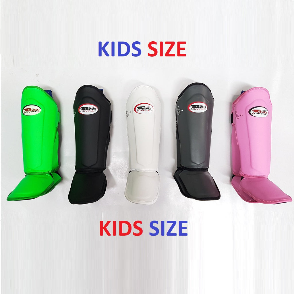 Twins Special SGS-10 Kids/Youth Muay Thai Shin Guards Instep (Various Colours)