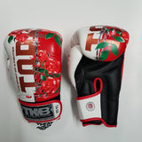 Top King Boxing Canada Massacre Roses White Gloves