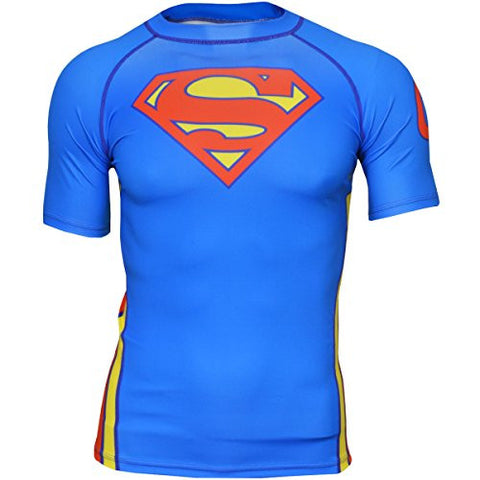 Fusion Fight Gear Superman Classic Short Sleeve Compression Shirt Rashguard