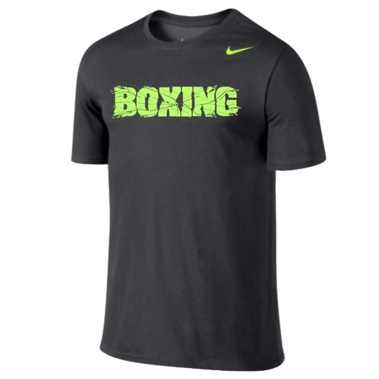 Nike Boxing Dri-Fit Performance 2.0 Cotton T-Shirt Dark Grey/Volt Green