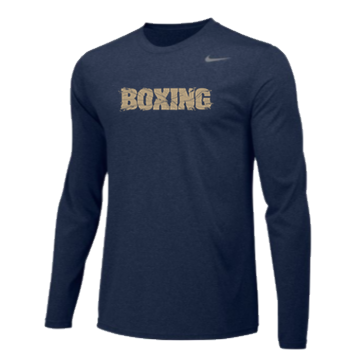 Nike Boxing Team Legend Long Sleeve Shirt Navy/Gold