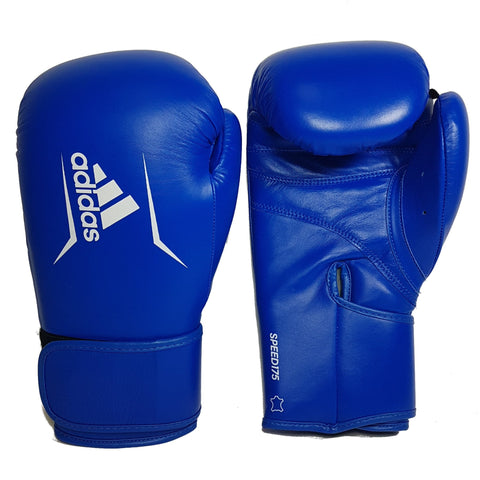 Adidas Boxing Speed 175 Genuine Leather Boxing Gloves Blue