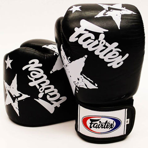 Fairtex BGV1 Nation Print Stars Gloves Black/White