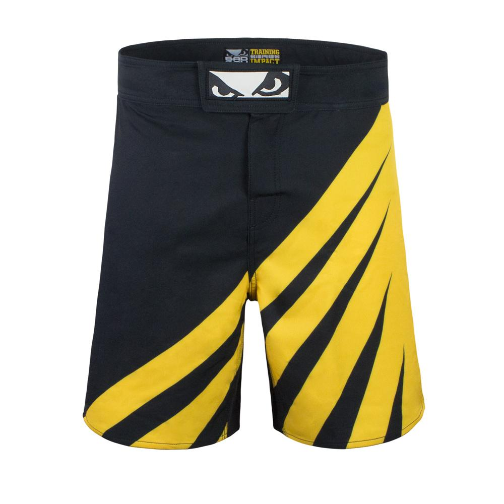 Bad Boy MMA Impact Training Fight Shorts Black/Yellow (Only XL left)