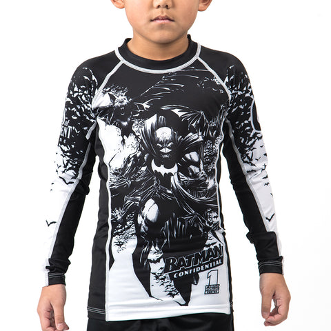 Fusion Fight Gear Edmonton Batman Confidential Noir Kids Rash Guard Rashguard