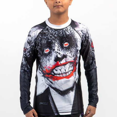 Fusion Fight Gear Canada Batman Joker Tec 880 Kids Rash Guard Rashguard