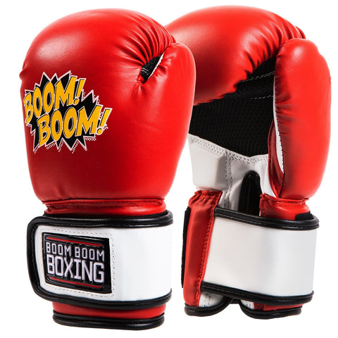 Boom Boom Red Kids Youth Boxing Gloves