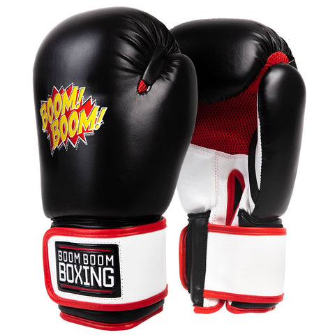 Boom Boom Black Kids Youth Boxing Gloves