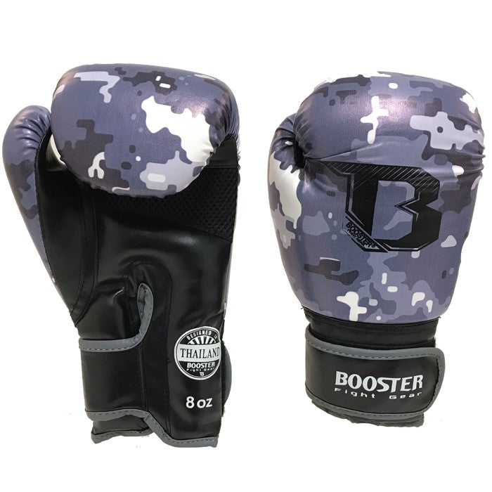 Booster Fight Gear Camo Grey Kids Youth Boxing Gloves