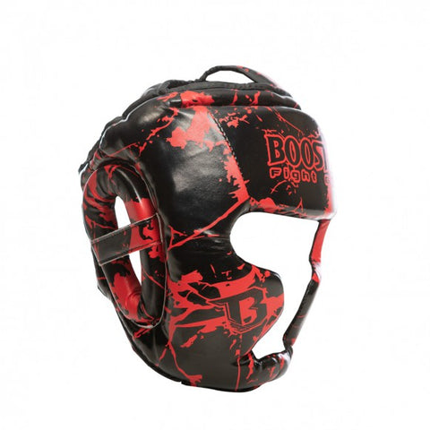Booster Fight Gear Canada Kids Youth Headgear Guard Marble Red