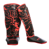 Booster Fight Gear Kids Youth Marble Red Shin Guards Edmonton