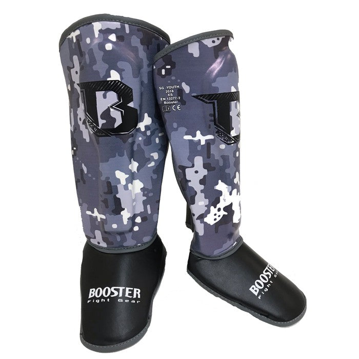 Booster Fight Gear Kids Youth Camo Grey Shin Guards Canada