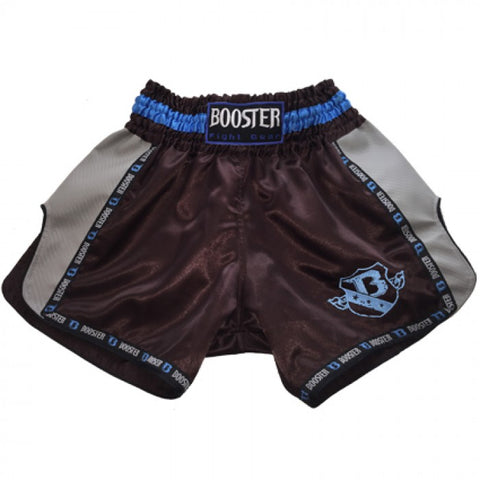 Booster Fight Gear TBT Pro Carbon Muay Thai Shorts Black-Grey-Blue