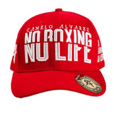 Official Canelo Alvarez Split No Boxing No Life Snapback Cap Hat Red
