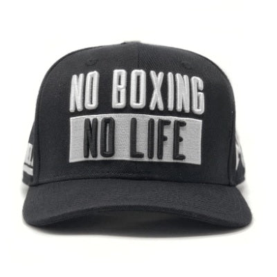 Official Canelo Alvarez No Boxing No Life Bars Snapback Cap Black/White