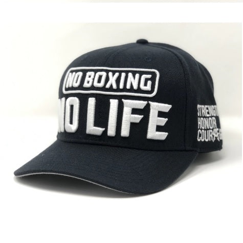 Official Canelo Alvarez No Boxing No Life Shop Deep Navy/White Snapback Cap Hat