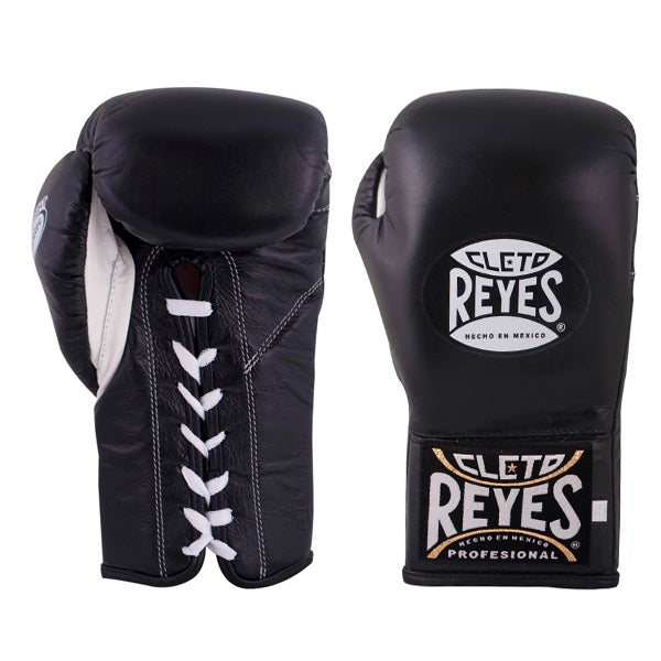 Cleto Reyes Safetec Official Fight Boxing Gloves Black