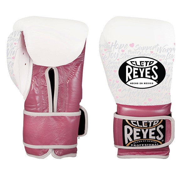 Cleto Reyes Training Velcro Hook & Loop Boxing Gloves Pink Fighter LIMITED EDITION