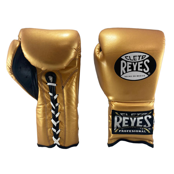 Cleto Reyes Lace-Up Training Boxing Gloves Solid Gold