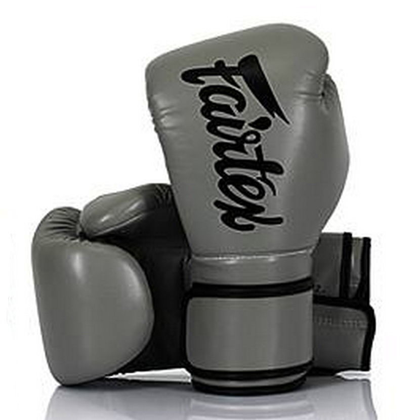 Fairtex Canada BGV14 Grey/Black Muay Thai Boxing Gloves
