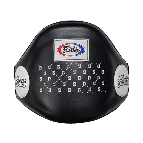 Fairtex BPV1 Velcro Belly Pad Protector Seamless Black Bellypad