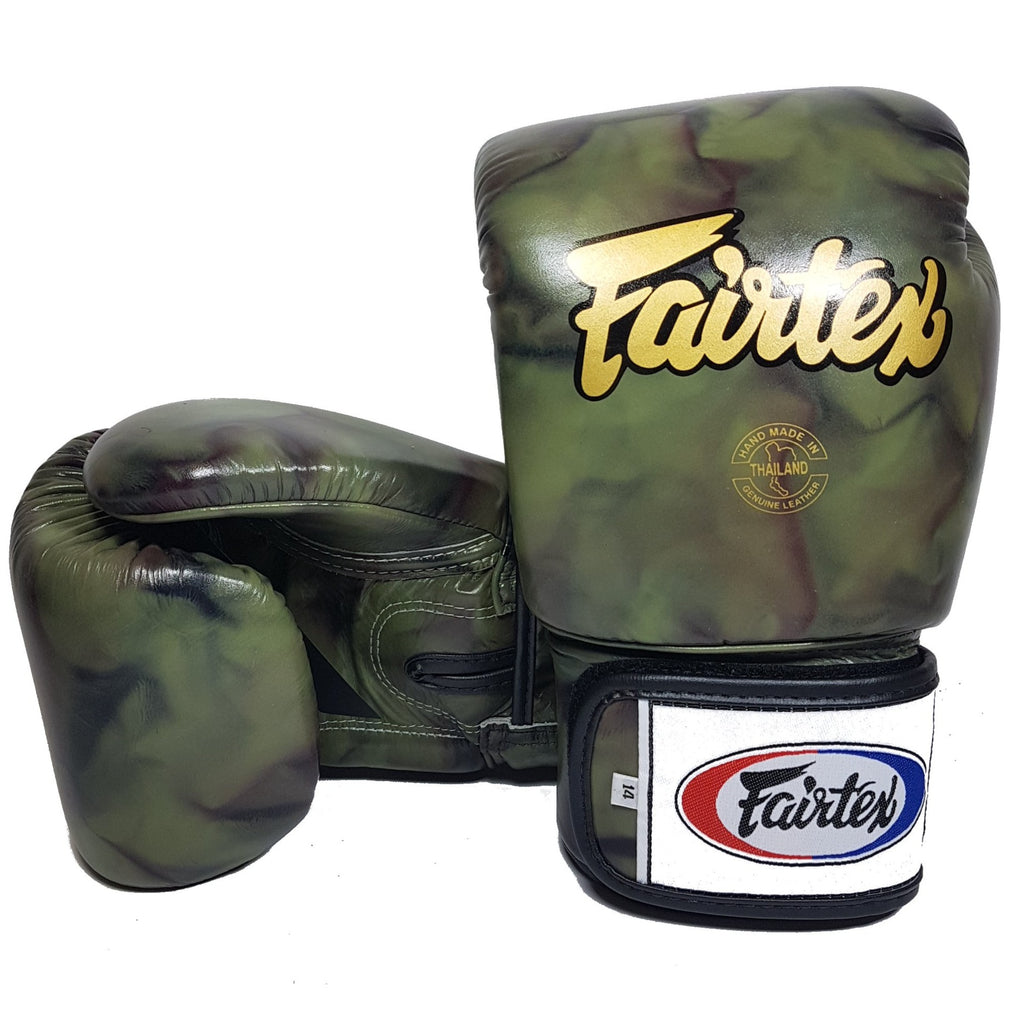 Fairtex BGV1 Camouflage Gold Muay Thai Boxing Gloves