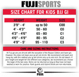 Fuji Sports Kids Childrens Youth BJJ Jiu Jitsu Gi White