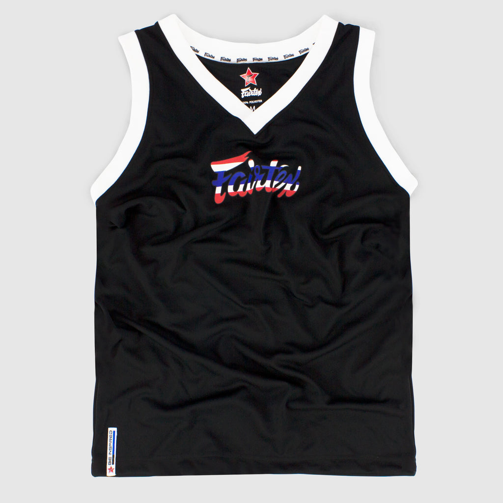 Fairtex JS13 Sleeveless Tank Top Basketball Jersey Shirt Thai Flag Canada
