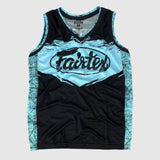 Fairtex Tank Top Canada Basketball Jersey Shirt Sky Blue/Black