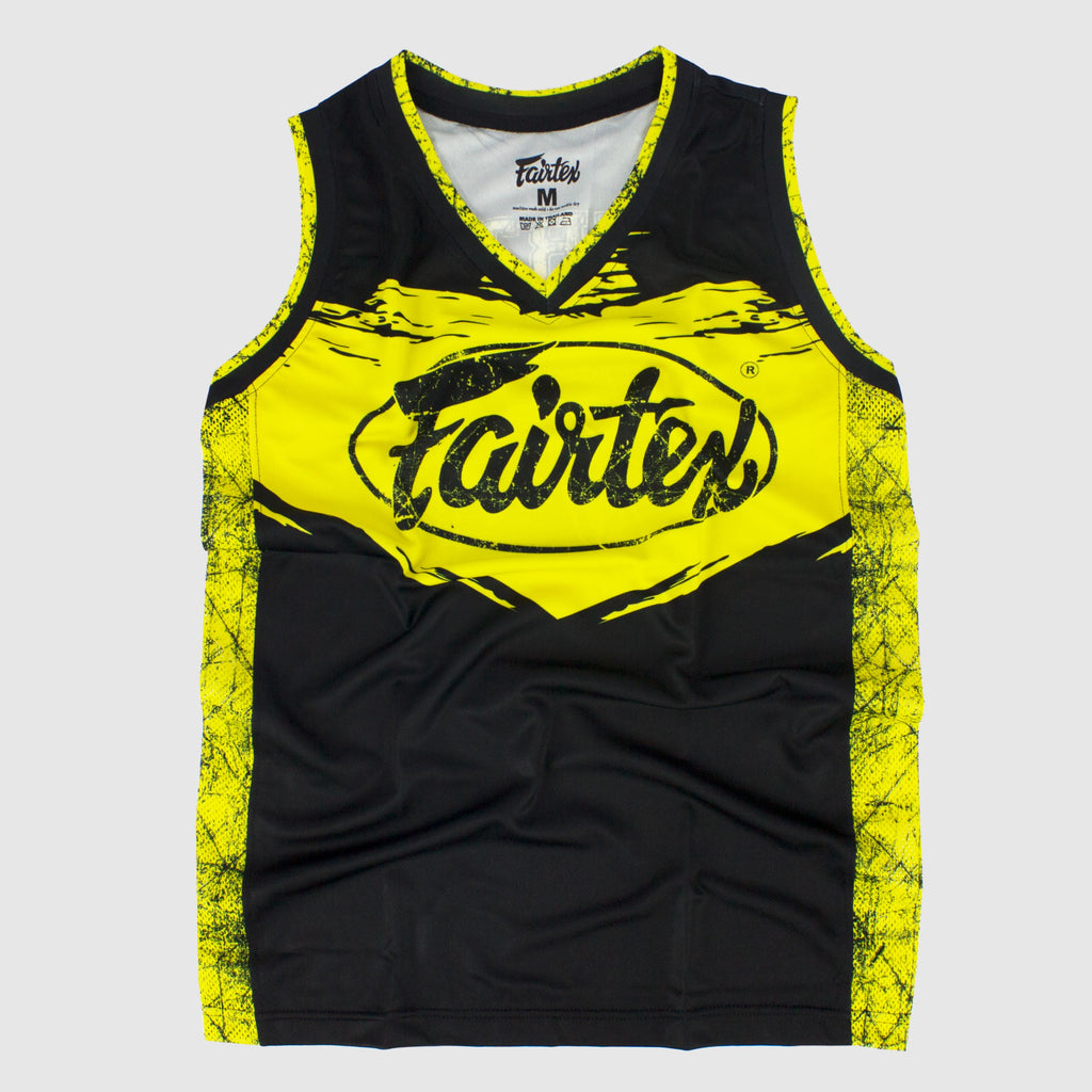 Fairtex Canada JS9 Sleeveless Tank Top Basketball Jersey Shirt Yellow/Black