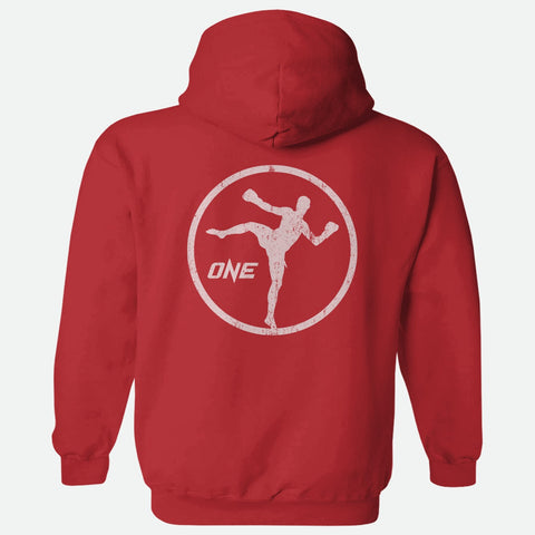 OneFC Kickboxing Graphic Red Pullover Hoodie