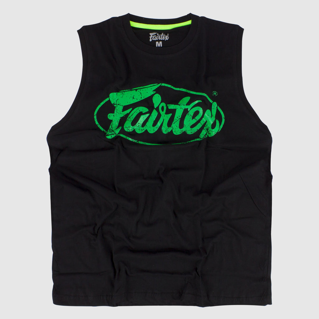Fairtex Cotton Sleeveless Tank Top Shirt Green Edmonton