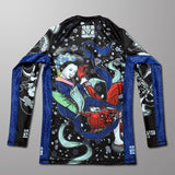 Meerkatsu Ladies jiu jitsu wear canada Heavenly Armbar Rashguard Rash Guard