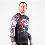 Fusion Fight Gear Mortal Combat Sub-Zero vs Scorpion Rashguard Rash Guard