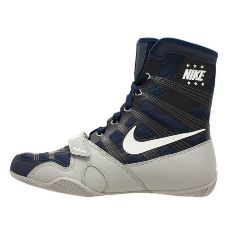 Nike Boxing HyperKO Shoes Boots Limited Edition Midnight Navy/White/Silver