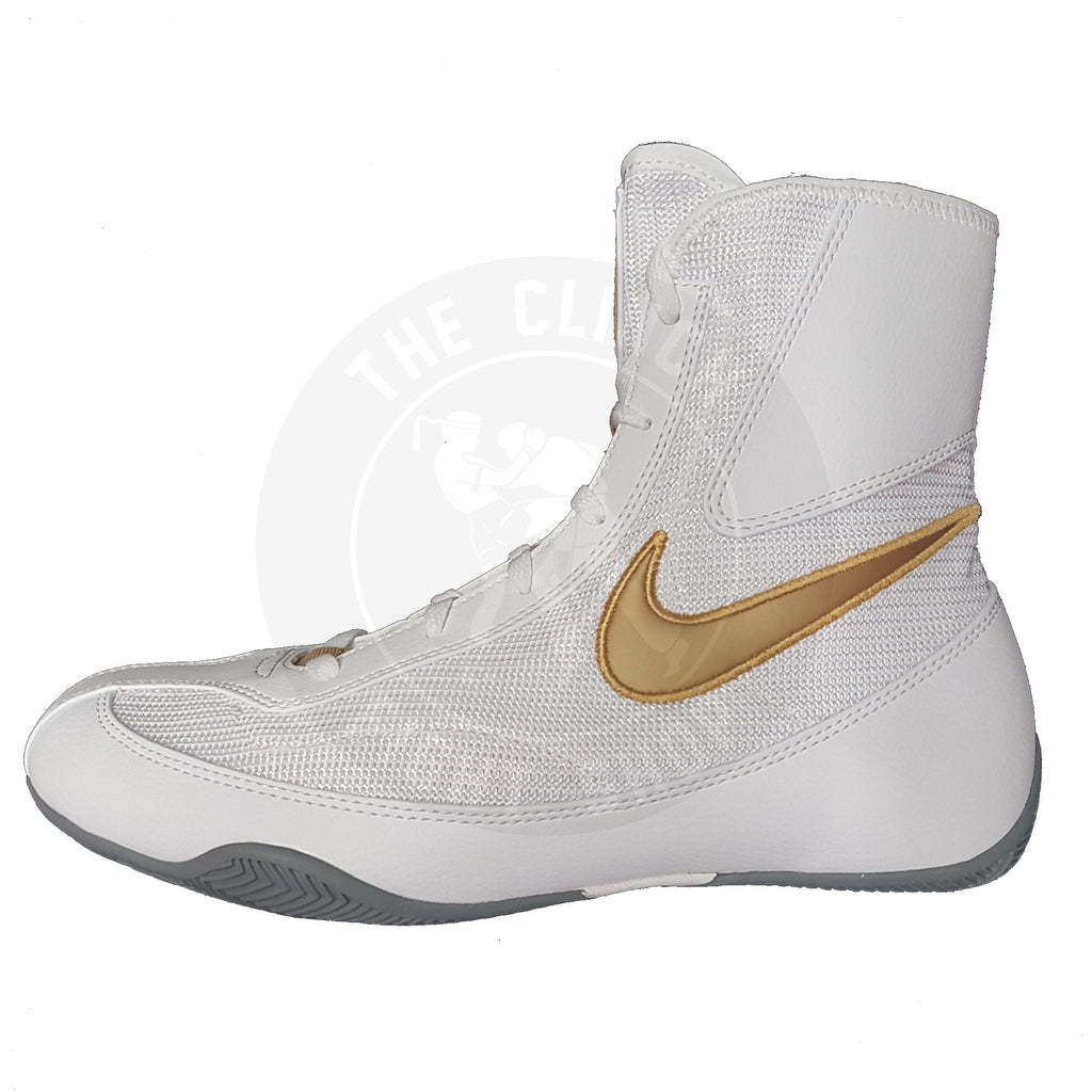 Nike Boxing Shoes Canada Machomai 2 Mid Shoes Boots White/Gold