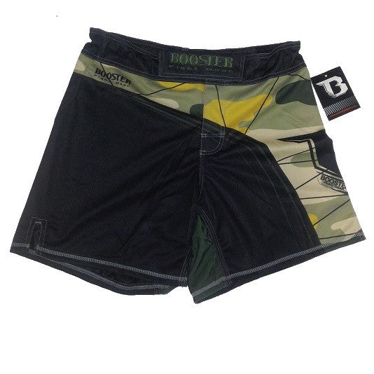 Booster Fight Gear MMA High Cut Pro Fight Shorts Trunks Enforcer Camo