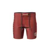 Phalanx Coyote Red RIZR Black MMA Grappling BJJ Shorts