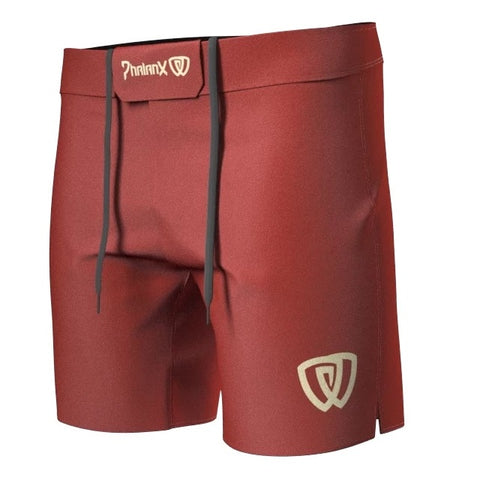 Phalanx Canada Coyote Red RIZR Black MMA Grappling BJJ Shorts