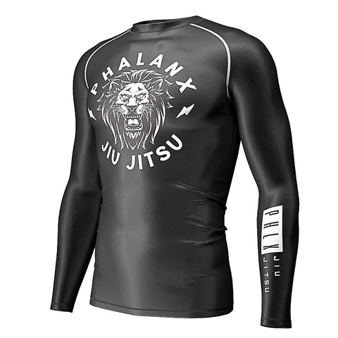Phalanx Jiu Jitsu Gear Canada Retro Lion Compression Rash Guard Rashguard