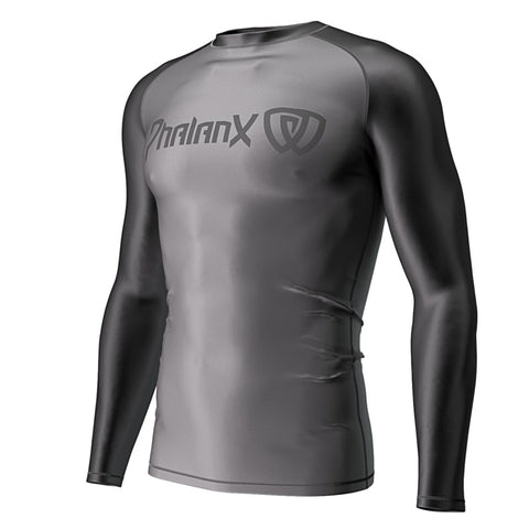 Phalanx Solider One Deep Grey Compression Rash Guard Rashguard