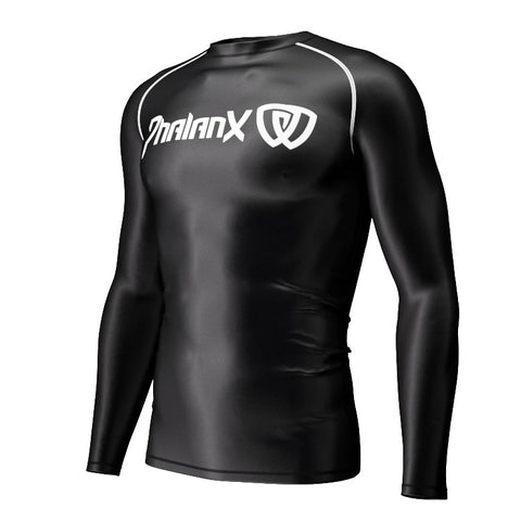 Phalanx BJJ Canada Soldier One Black Compression Rash Guard