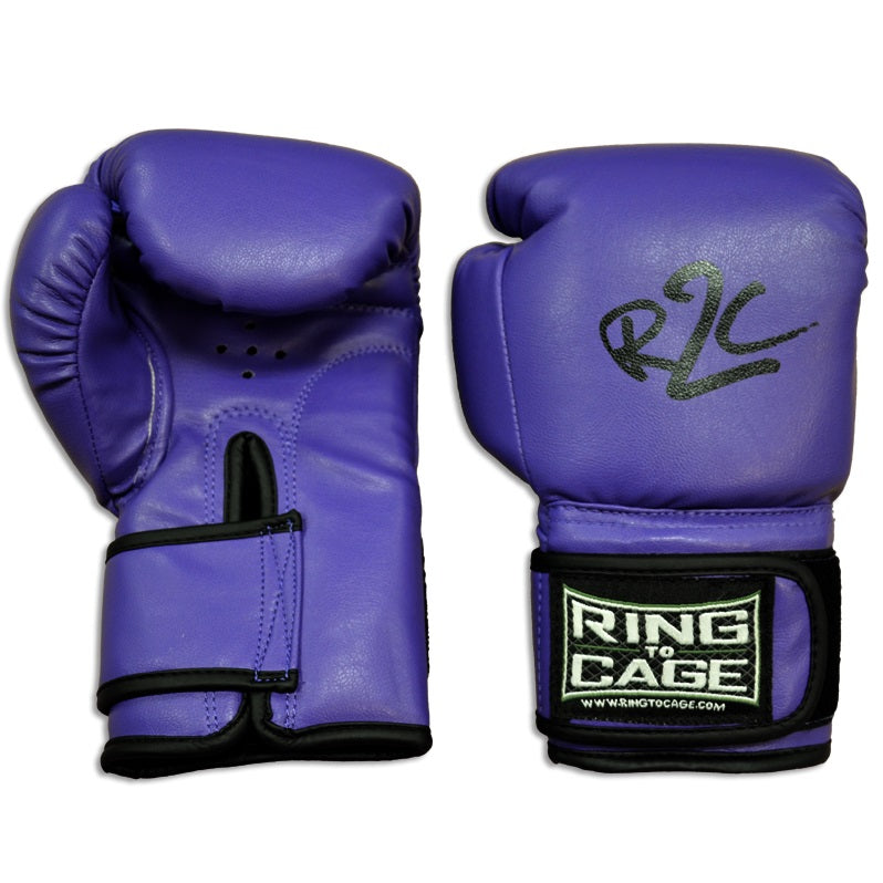 Ring to Cage Kids Youth Boxing Gloves Edmonton Purple/Black